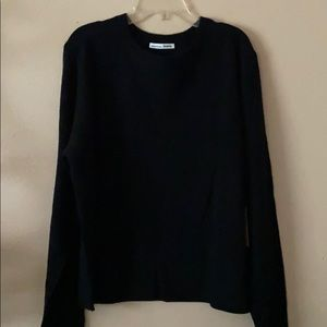 Reformation black soft cashmere sweater